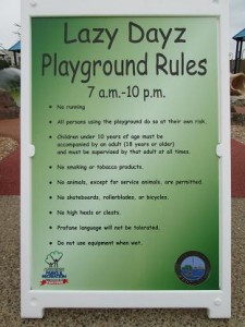 The playground rules