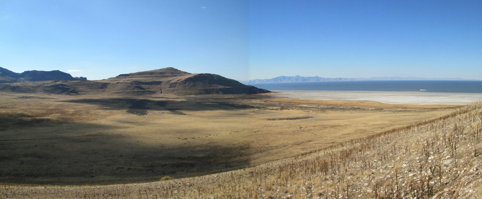 More rocks, salt, and the Great Salt Lake from Antelope Island