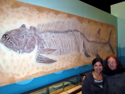 Jessica, Elaine, and a big fish