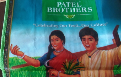 Promotional Patel Brothers grocery bag